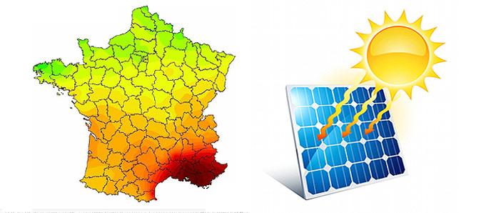 Très Carte d'ensoleillement en France - Installation panneau solaire DY32